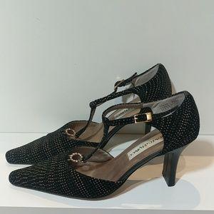 Tango Salsa dancin rhinestones t-strap pointy heel
